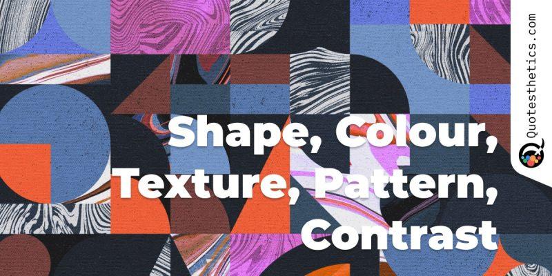Colour Contrast Shape - Quotesthetics