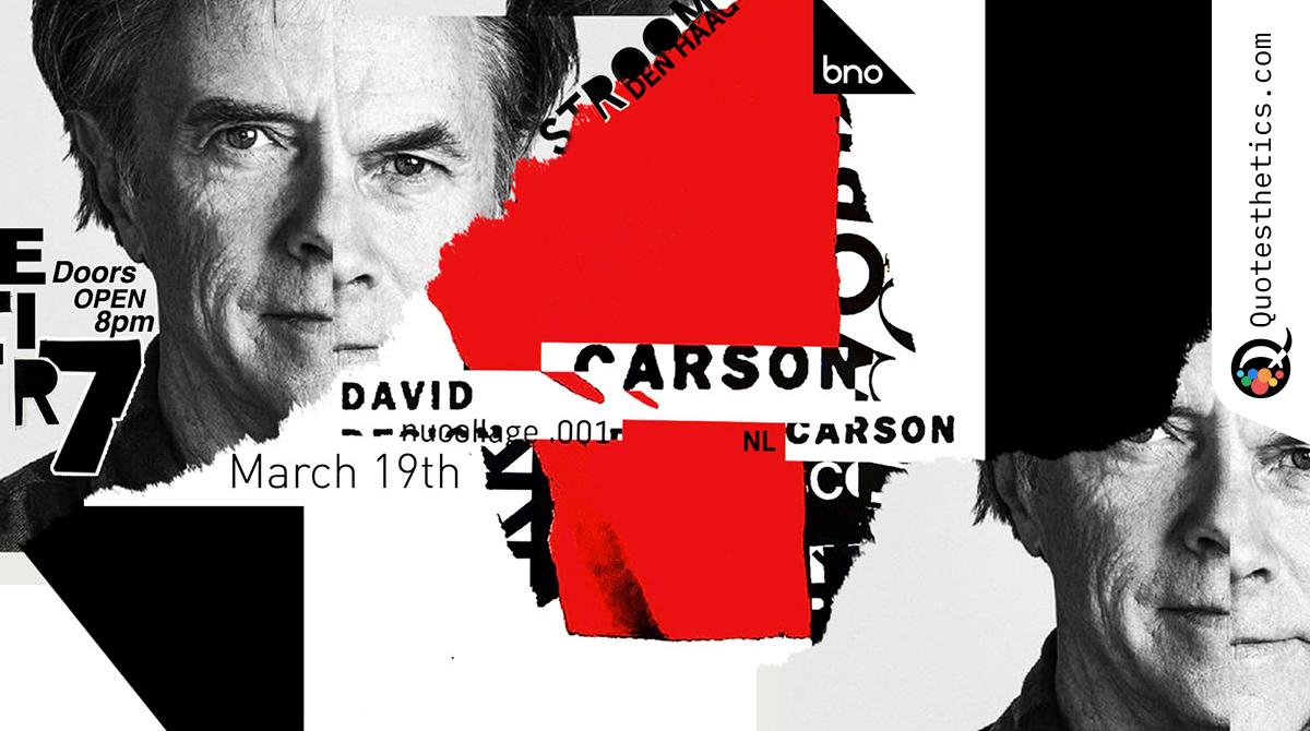 David Carson Design Unique